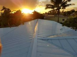 Florida Sunset And Metal Roof