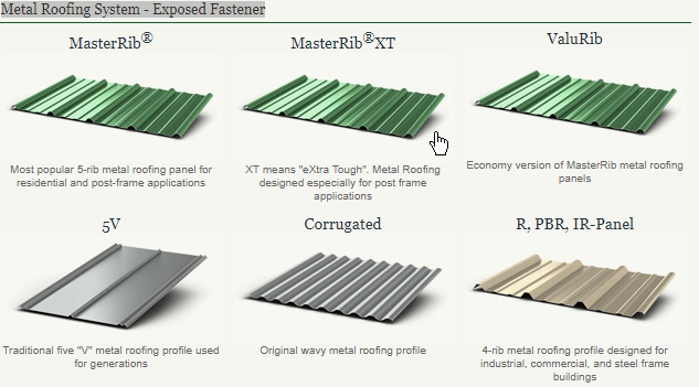Metal Panel Profiles Colors Favero Roofing Inc